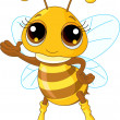Cute Bee Showing — Stock Vector #3732123