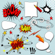 Set of comic elements - Stock Vector