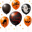 Stock Vector: Halloween balloon set