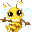 Royalty-Free Stock Vectorielle: Cute Bee Showing