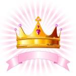 carte de couronne princesse — Vecteur
