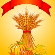 Harvest background — Image vectorielle