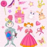 Fairy Tale Vector Elements — Stock Vector #3828547