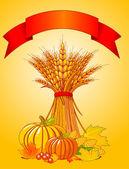 Harvest background — Stock Vector