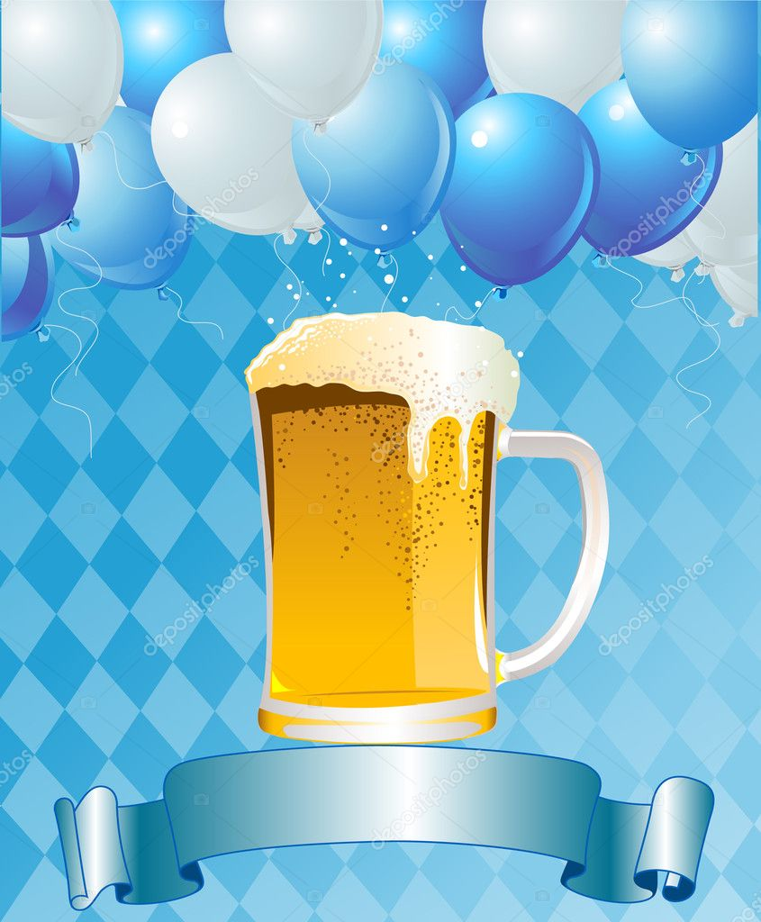 Vertical  Oktoberfest Celebration Background with Copy space. — Stock Vector #3828543