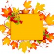 Stock Vector: Fall frame