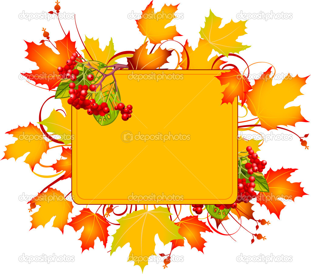 Fall colors adorn background, perfect for greeting cards or retail signage.  Vector illustration perfect for Thanksgiving and Halloween  Stock Vector #3858964