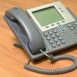 Modern, stationary telephone. — Stock Photo
