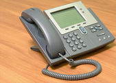 Modern, stationary telephone. — Stock Photo