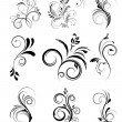 Floral design elements — Imagen vectorial