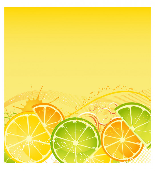 Citrus background — Stock Vector #3803214