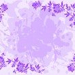Lilac floral frame - Stock Vector