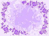 Lilac floral frame — Stock Vector