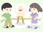 Family quarrel — Stock Vector