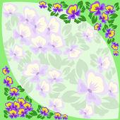 Frame of violets — Stock Vector