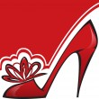 Royalty-Free Stock Imagem Vetorial: Red Shoe