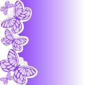 Purple butterfly — Stock Vector