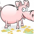 Piggy-piggy — Stock Vector