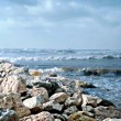 Stock Photo: Coastal rocks in Bat-Yam