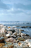 Coastal rocks in Bat-Yam — Stock Photo