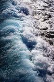 Turquoise transparent wave — Stock Photo
