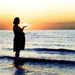 Pani w ciąży — Zdjęcie stockowe