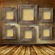 Old room, grunge interior with frames — Stock Photo #2747965