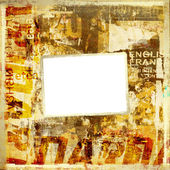 Grunge background with old torn posters — Stock Photo
