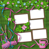 Frames for greeting or congratulation — Stock Photo