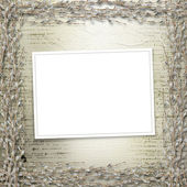 Writing abstract background with frame — Stock Photo