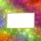 Frame on the multicolored background — Stock Photo