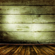 Old room with old wooden walls - Stock Photo