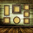 Old room, grunge  interior with frames - Photo