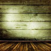 Old room with old wooden walls — Fotografia Stock