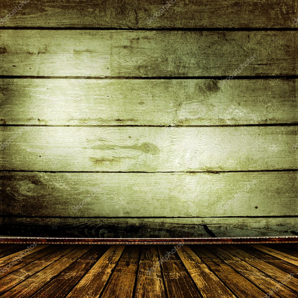Old room with old wooden walls and former beauty  Stock Photo #2787765