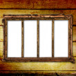 Old window on the antique wall — Foto Stock