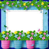 Frame for greeting or congratulation — Stock Photo
