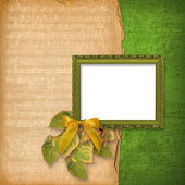 Grunge wooden frame — Stock Photo