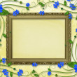 Wooden frame in the Victorian style — Stock Photo