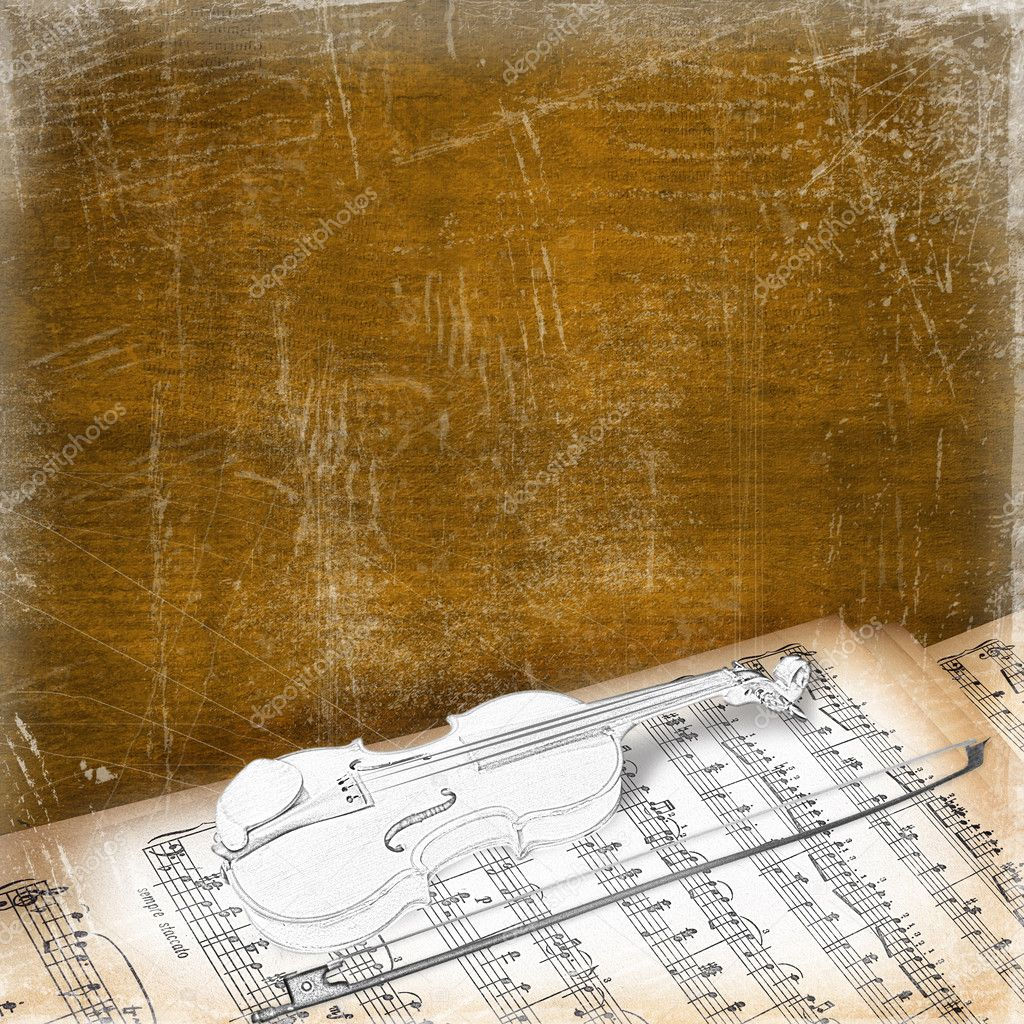 Abstract background with the sketch of an old violin — Stock Photo #2858988