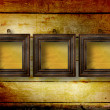 Stock Photo: Old room, grunge interior with frames