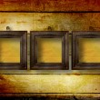 Old room, grunge interior with frames — Stock Photo