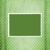 Abstract green jeans background — Stock Photo