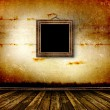 Old room, grunge interior with frame — Stock Photo #2920614