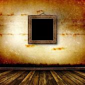 旧房间,grunge 的内部与框架 — 图库照片