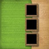 Grunge 木制相框 — 图库照片
