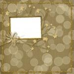 tarjeta de invitación con orquídeas — Foto de Stock