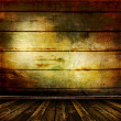 Old room with old wooden walls — Stock Photo