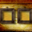 Old room, grunge  interior with frames — Stockfoto
