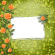 Stock Photo: Grunge paper for congratulation